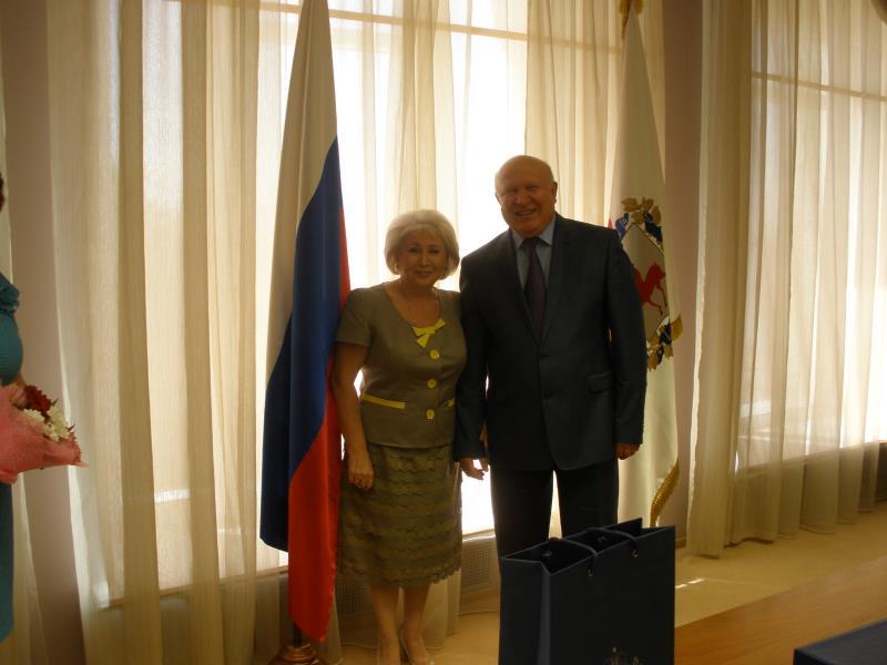 Е.С. Соболькина и В.П. Шанцев
